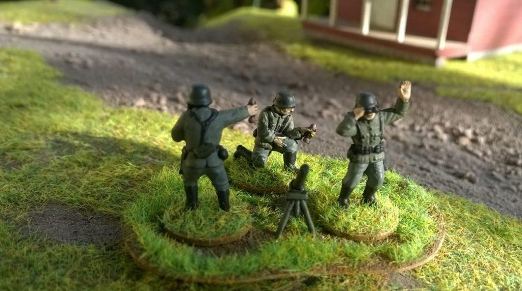 """Und dieser 81mm-Granatwerfer-Trupp aus dem Matchbox-Set German Infantry kommt auch aus der Kategorie """"Kann man nie genug von haben"""""""