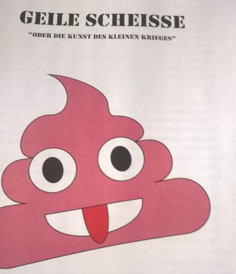 """Gespielt wurde nach Doncolors Regel werk """"Geile Scheiße oder die Kunst des kleinen Krieges""""."""