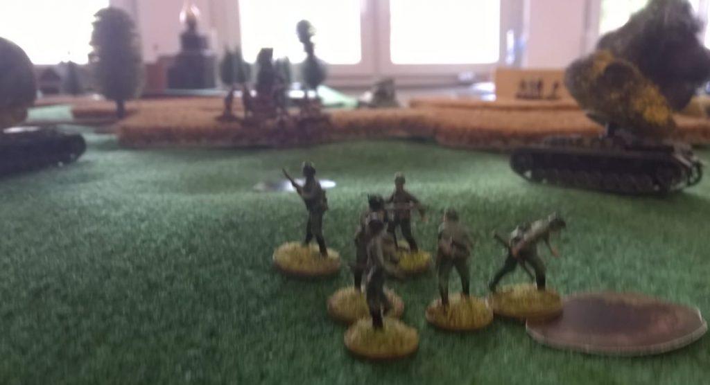 Ein Trupp Panzergrenadiere.