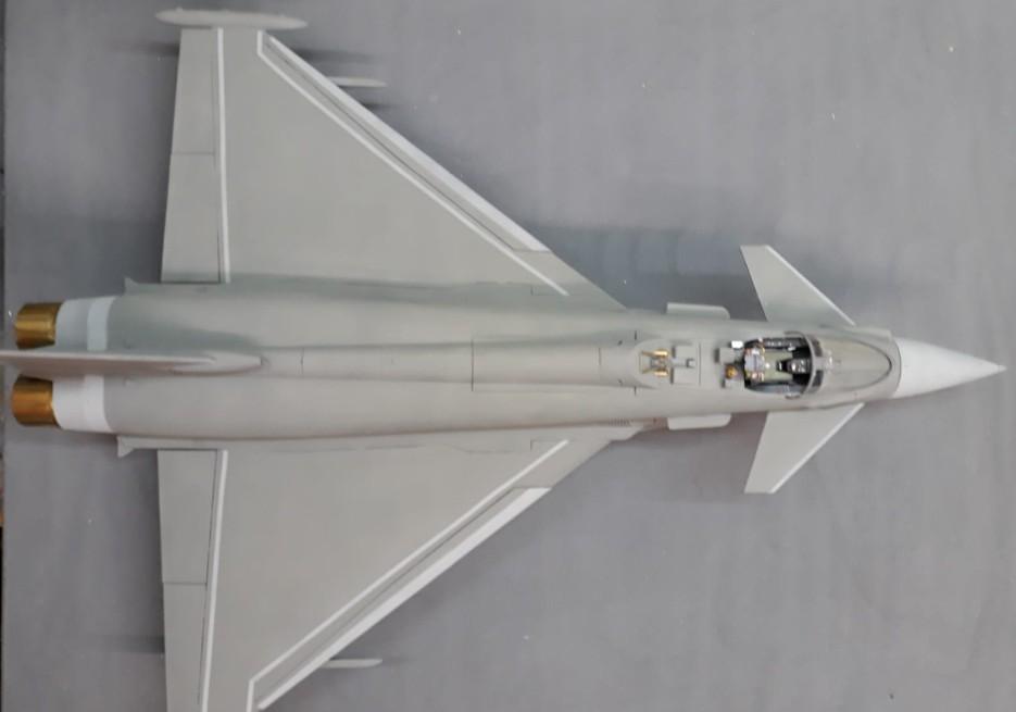 Der Eurofighter in Gesamtansicht.