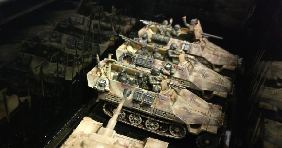 Auch in Käfertal vom Band gelaufen sind diese drei mittleren Schützenpanzerwagen.