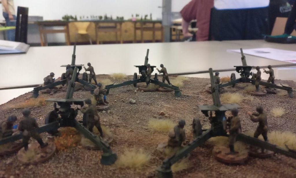 Off Table stand so manches bereit: 122mm Haubitzen...