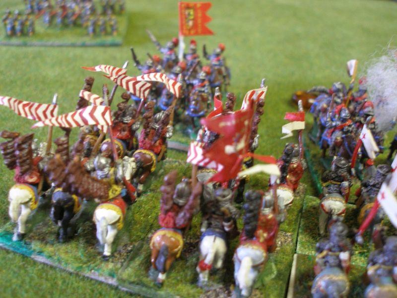 Die Litauische Reiterei scheint unaufhaltsam, nachdem sie zwei Regimenter Dragoner in die Flucht geschlagen hat kämpft sie gegen die spanischen  Kürassiere…