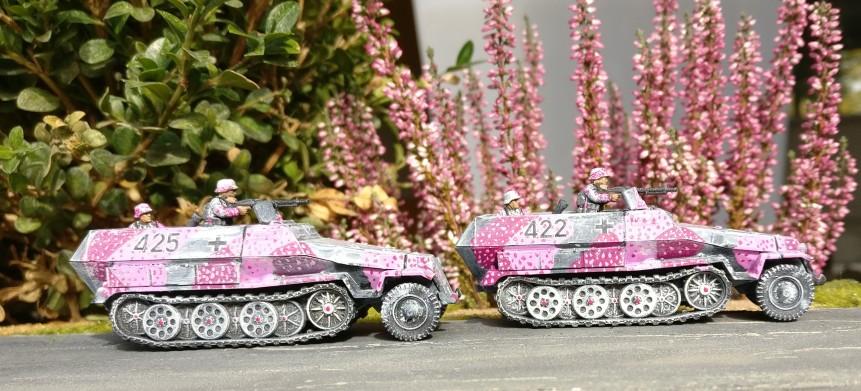 Out of Shturmigrad: die beiden mittleren Schützenpanzerwagen des Pink Battalion im Einsatz im Herbstmanöver.