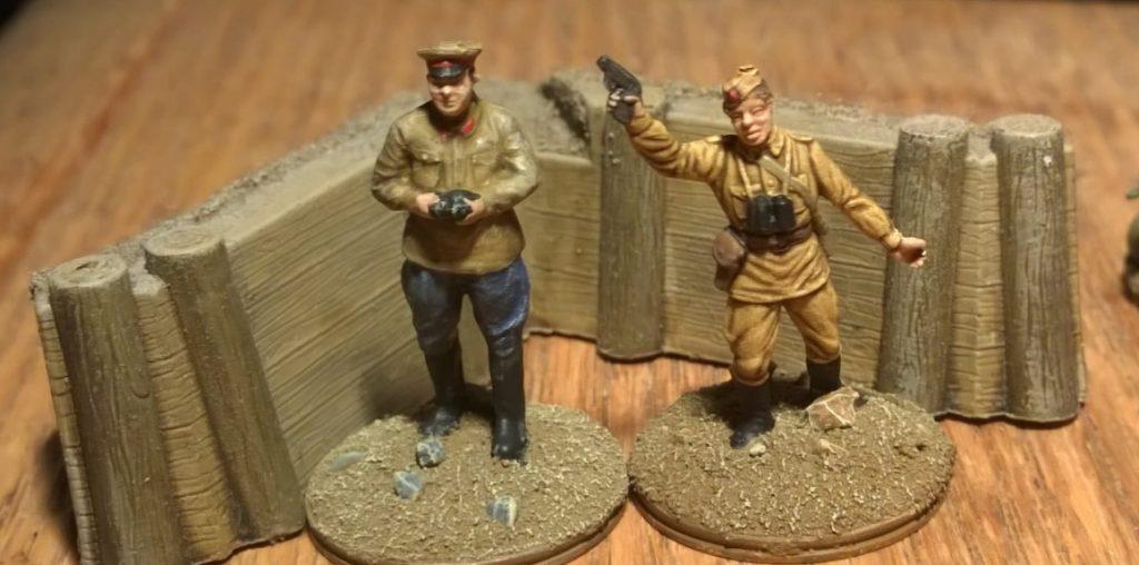 Piotr Kalinin und Sergej Gasparov aus dem Esci Set 203 Russian Soldiers