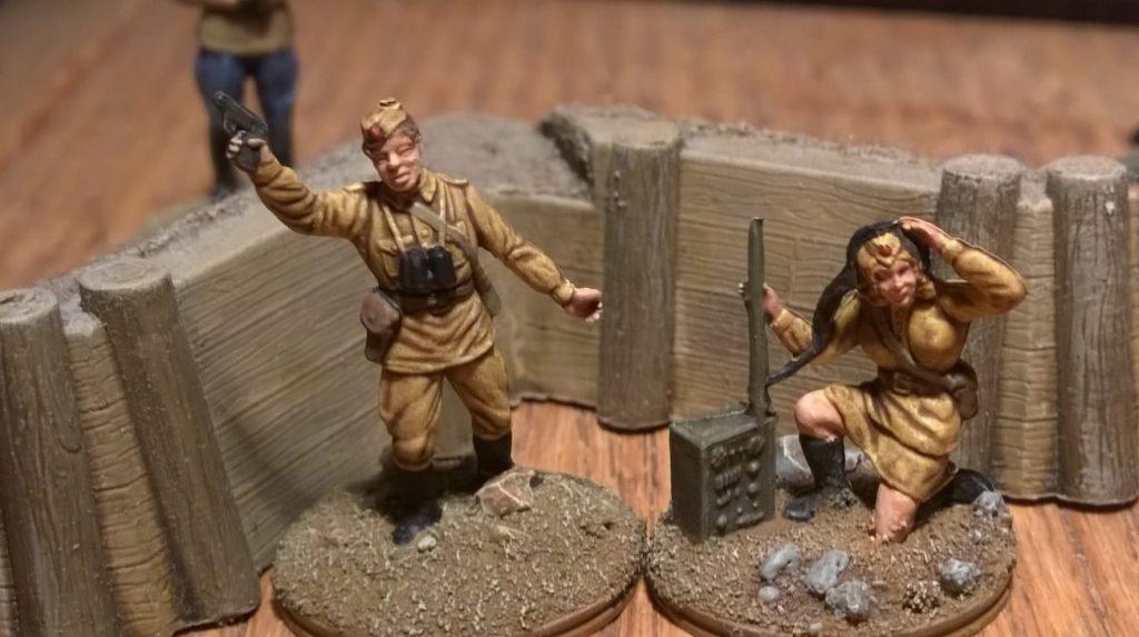 Olga Kommunikova und Sergej Gasparov aus dem Esci Set 203 Russian Soldiers