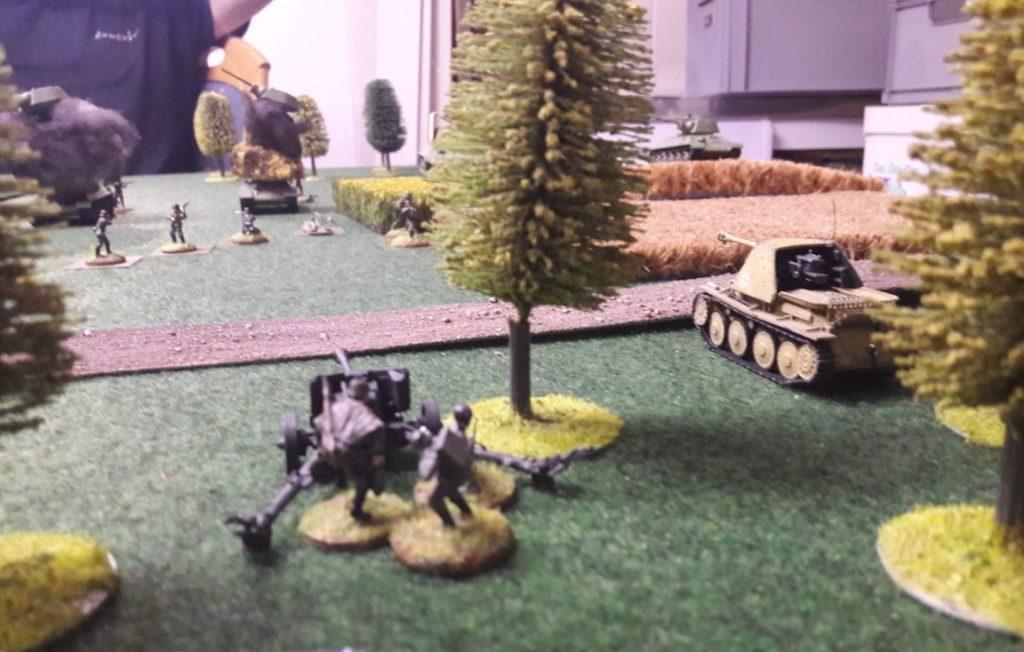 Die Pak und Panzerjäger waren wie schon bei den großen Spielen das Gefechtsfeld bestimmend.