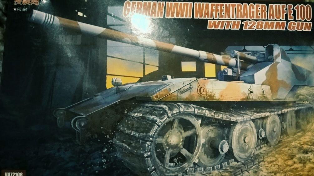 WWII German Waffenträger auf E-100 mit 128 mm Geschütz, von Modelcollect, ArtNr. UA72108