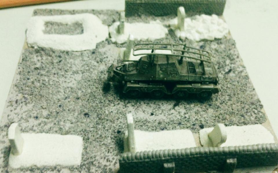 "PBI-Spielmodul 15x15 cm, ""Alter Friedhof"", 50% fertig"