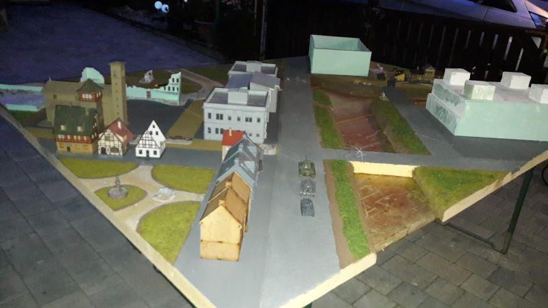 Stellprobe mit Häusern. Eisenstadt wächst.
