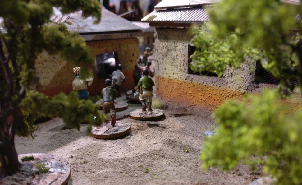 """Die Spielplatte """"Black Hawk Down: Mogadischu 1993"""" von den Ad Arma auf der Crisis 2018 in Antwerpen"""