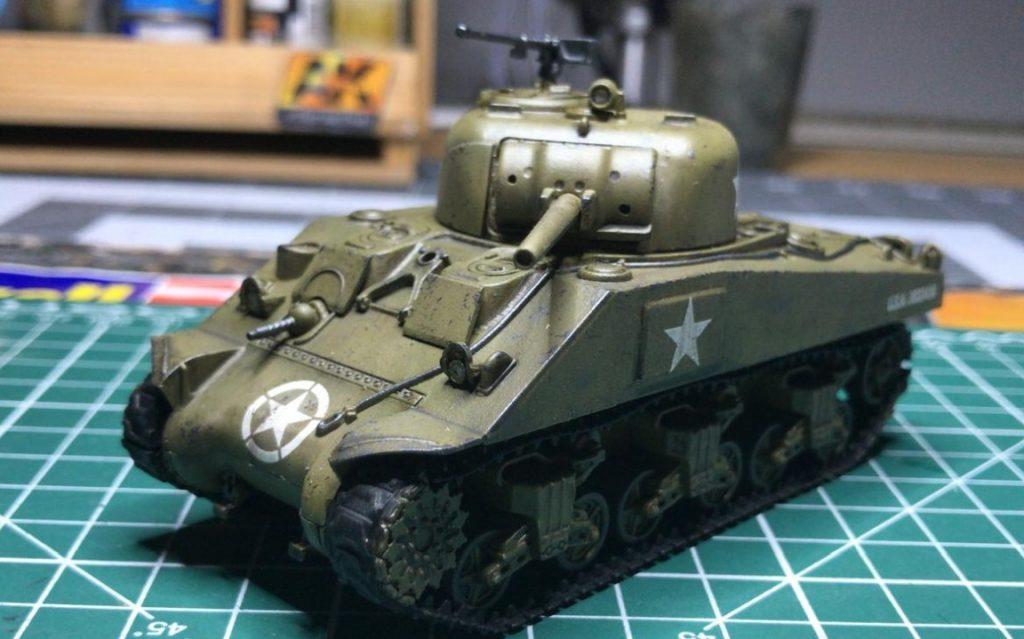Der fette Bolt Action: M4 Sherman medium tank vom Panzerschmied. Edles Eisen für Bessere Battles.