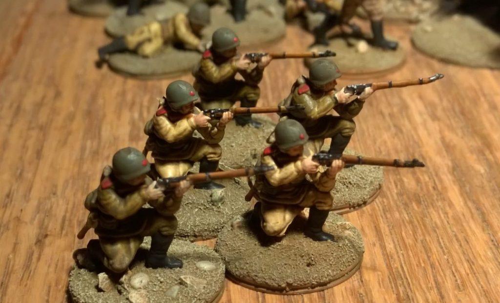Juri Ballerenkos Brüder - sie stammen ebenfalls aus dem Esci Set 203 Russian Soldiers.