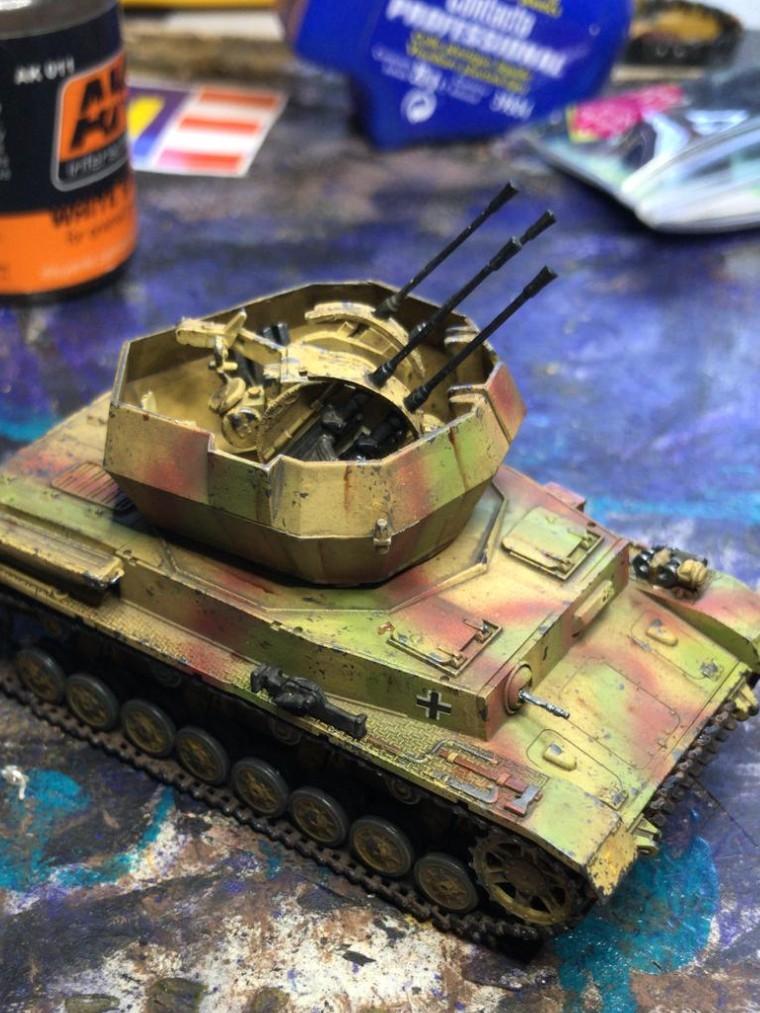 Flakpanzer (2 cm) auf dem Fahrgestell des Panzers IV (Sd.Kfz. 161/4) vom Panzerschmied.