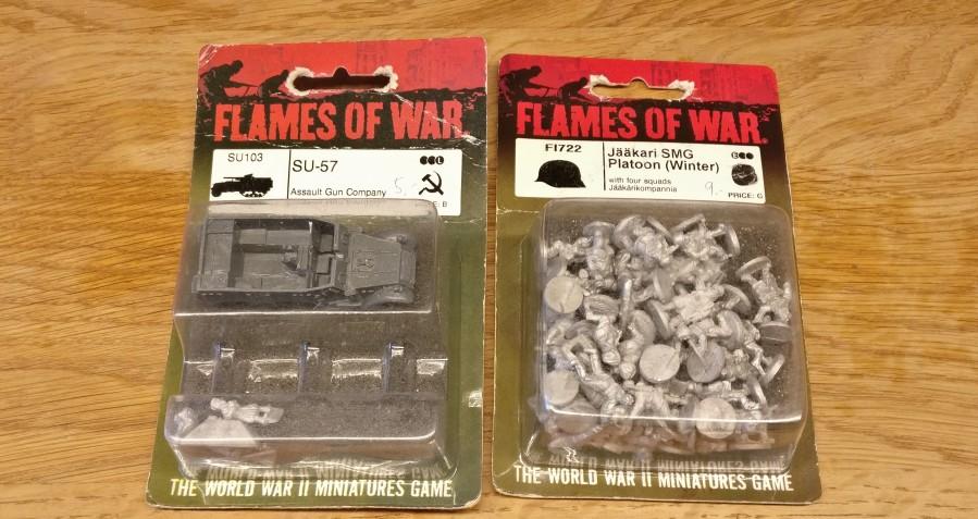 Auch für XENA: von Flames of War den SU-57 Lend-Lease und die finnische Jääkari-SMG-Platoon (Winter)