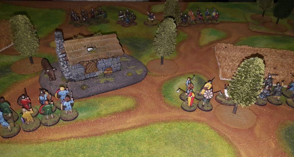 Aufmarsch auf dem Bauernhof. Vorgeplänkel zur fetten SAGA-Battle.