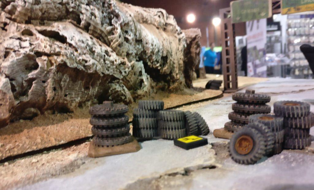 """Der Spieltisch der """"Dune-Bug-Rally"""" auf der Ccrisis 2018 in Antwerpen."""
