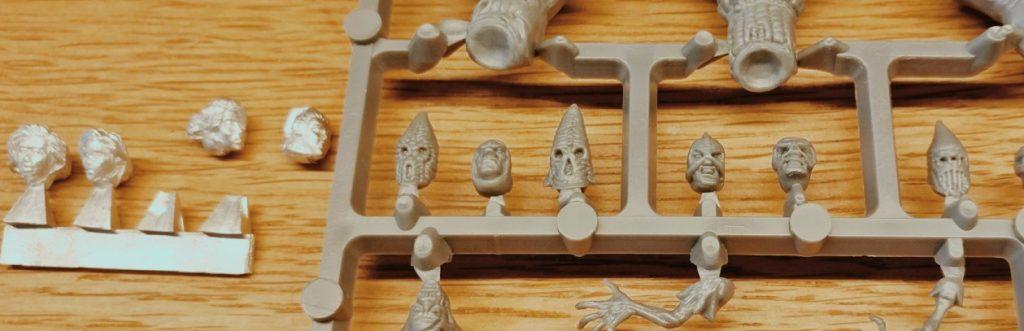 Hier noch eine Detailaufnahme der Köpfe. Auch die Köpfe der Kultisten von Frostgrave sind feinstens modelliert.