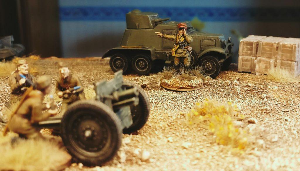 Erstes Übungsschießen mit den Zvezda 6145 76mm Gun and Crew auf dem Truppenübungsplatz Shturmigrad-Novograda
