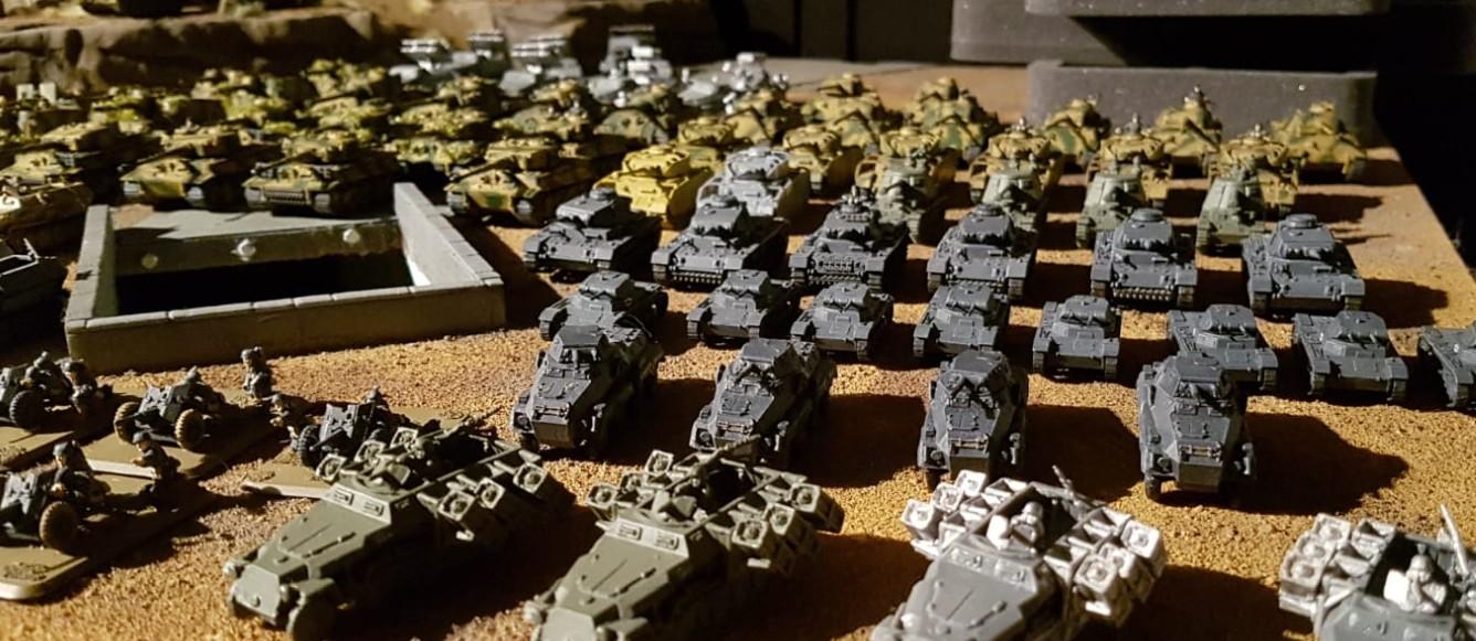 Panzer II und Panzer III  bei den 15mm WW2 Germans für Peter Pig's PBI / Poor Bloody Infantry