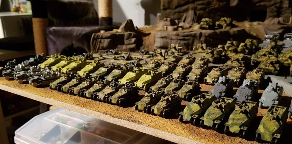 SdKfz 250 und SdKfz 251 bei den 15mm WW2 Germans für Peter Pig's PBI / Poor Bloody Infantry