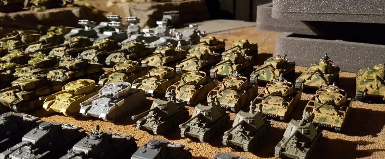 Panzer IV und Panzer V Panther bei den 15mm WW2 Germans für Peter Pig's PBI / Poor Bloody Infantry