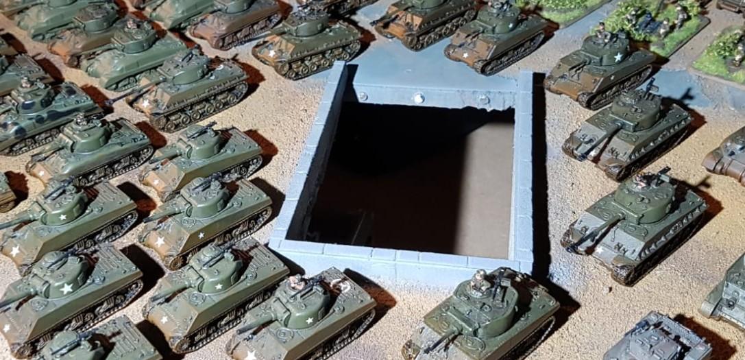 Auch viel US-Dickblech bei den Fotos der 15mm WW2 Americans für Peter Pig's PBI