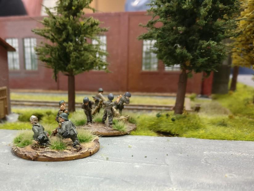 Ein Teil der deutschen Granatwerfer-Truppen.