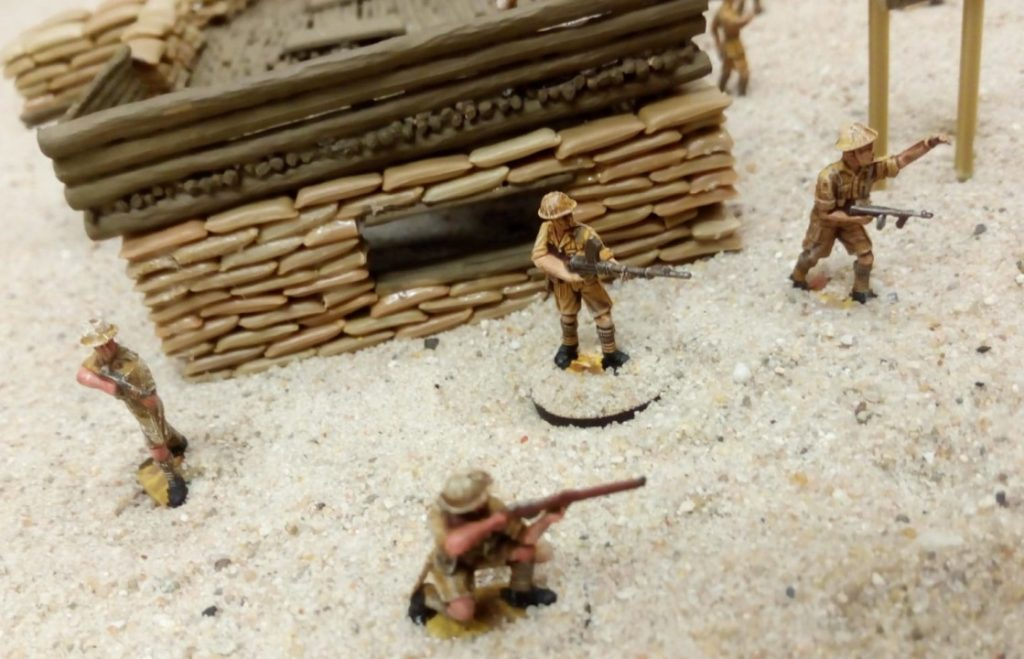 Auch die Tommies haben befestigte Stellungen.