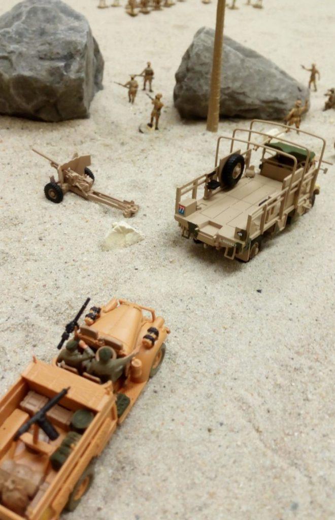LRDG car, Bedford QL + Ordnance QF 6-pounder.