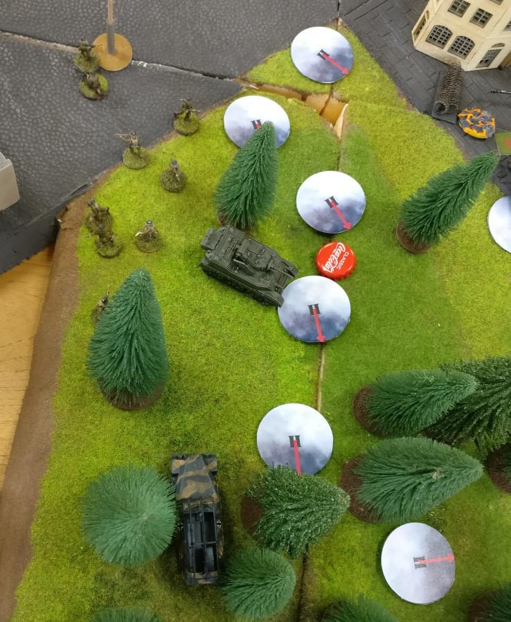 Im Wald am Kanal kommt es zu ersten Gefechten.
