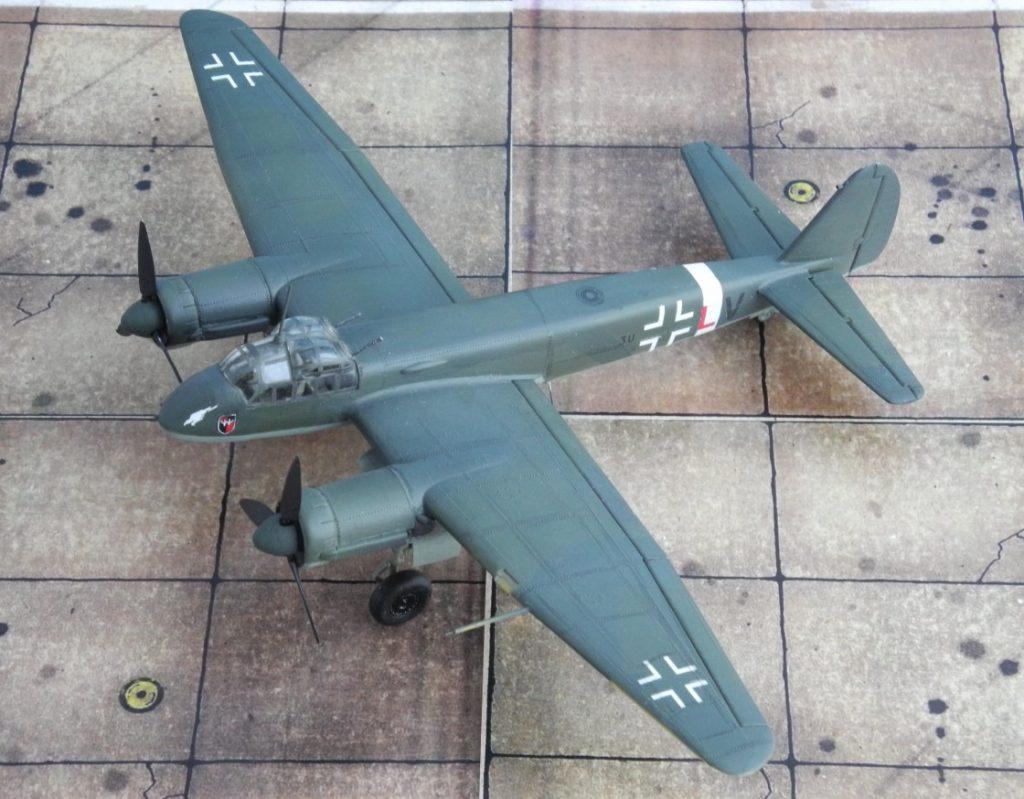 Das Modell stellt eine Junkers Ju 88 C-6 des Zerstörergeschwaders 26 dar.  (Modell: Ju 88 C-6 von Italeri 022)