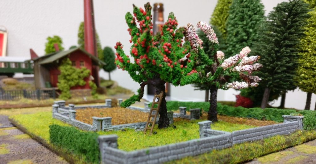 Der kleine Obstgarten mal aus anderer Perspektive.