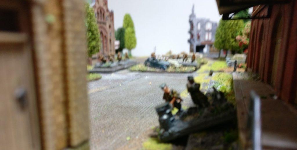 Ein vorgeschobener Panzerabwehrtrupp.