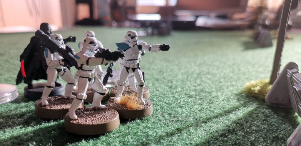 Star Wars Legion: Pink Assault der Aliens. Dog Fight mit den Rebellen unter Droidencommander H2D2.  General Akbar, Nien Nunb und Hrcheck Kal Fas