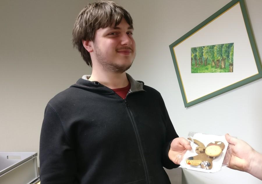 Timo war der Erste, der einen von Doncolors livehaftigen Angry Gingerbreads bekam.