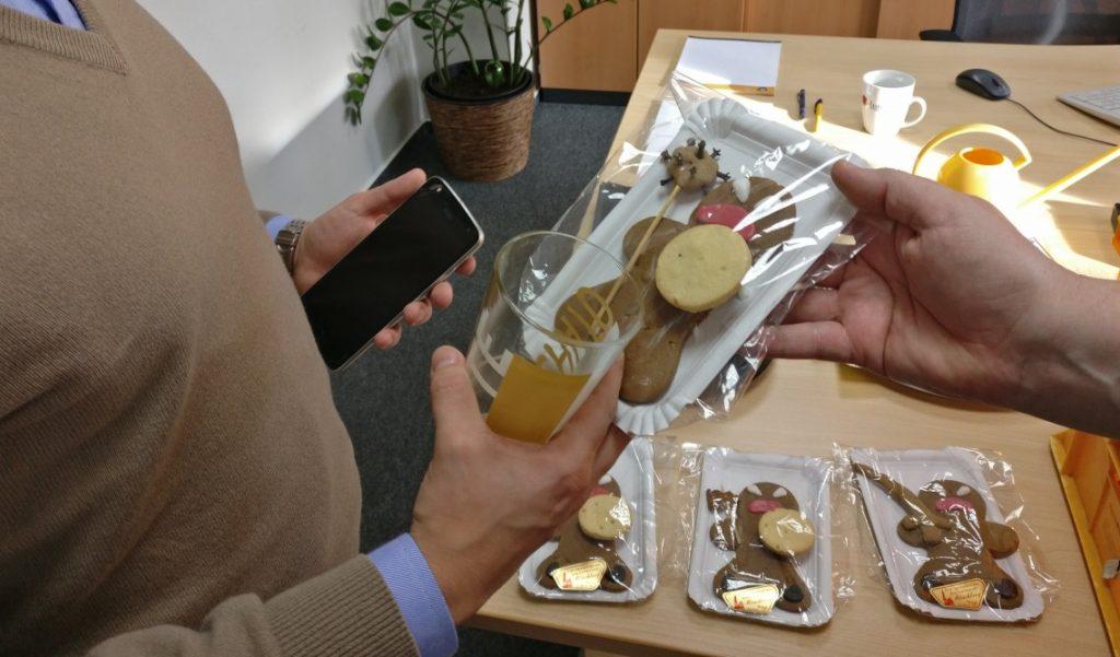 Martin - Table-Top-Novize aus Mainz - haben wir auch ein Angry Gingerbread in die Hand gedrückt.