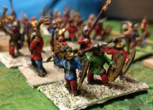 Eine wichtige Einheit im britischen Heer waren die Schleuderer und Javelineers.