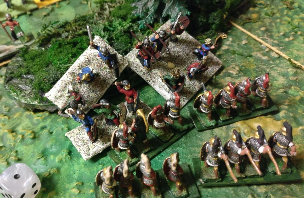 Die unterlegenen Briten erhalten massive Unterstützung durch Fortuna.