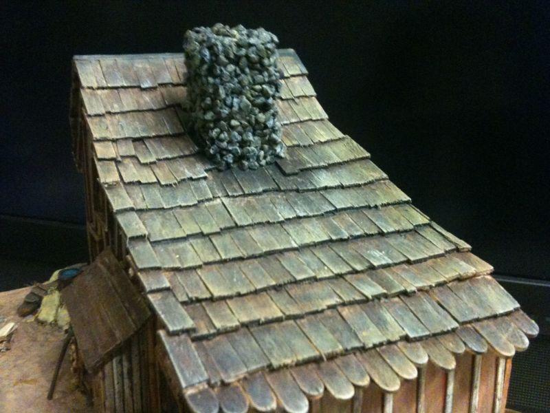 Das fertig gedeckte und bemalte Dach sieht schon endgeil aus...