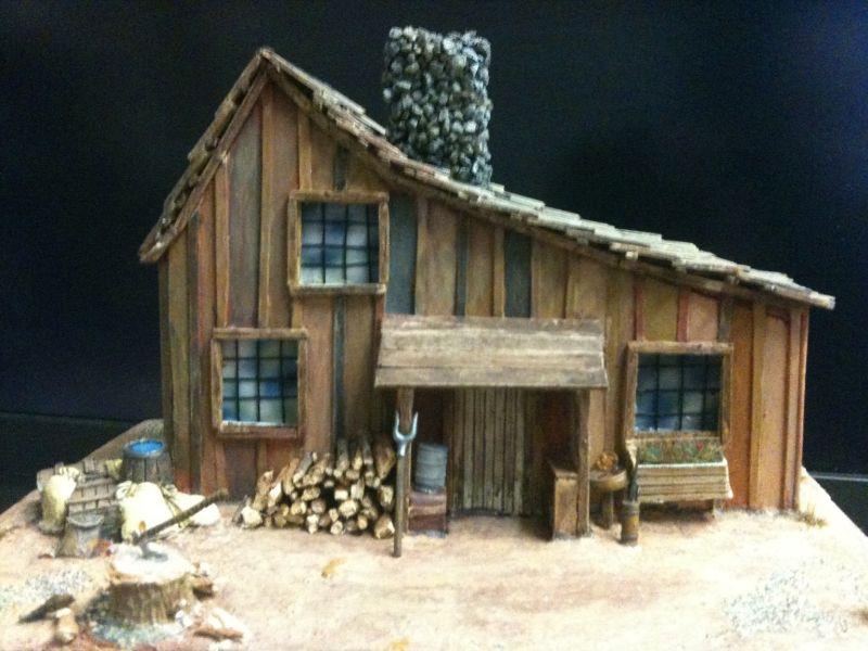 """Gesamtansicht des Hauses der Familie Ingdals aus der Serie """"Meine kleine Farm"""".  Da hat sich XENA ganz schön ins Zeug gelegt."""