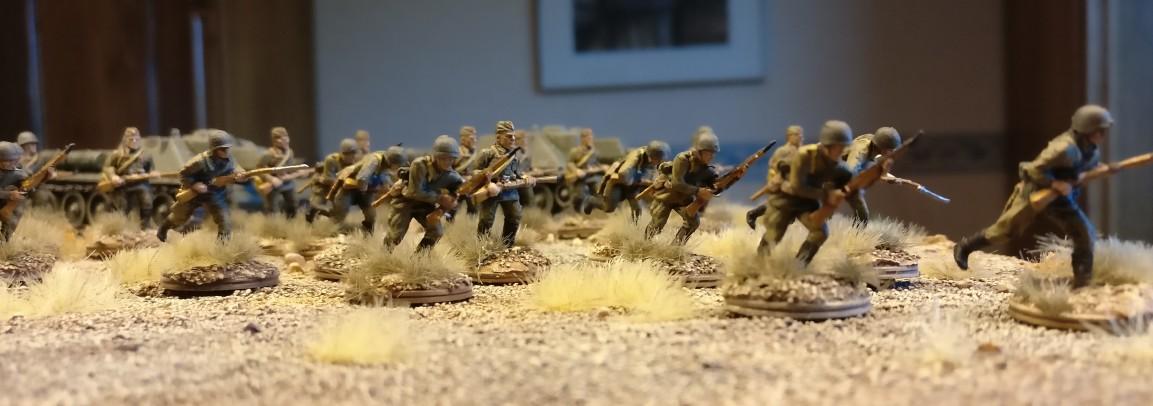 Foto vom ersten Manöver. Dies gibt den Charakter wieder, welchen ich der 30. Schützendivision der 9. Armee zugedacht habe.