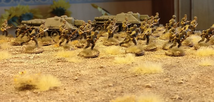 Sturmlauf der 30. Schützendivision der russischen 9. Armee