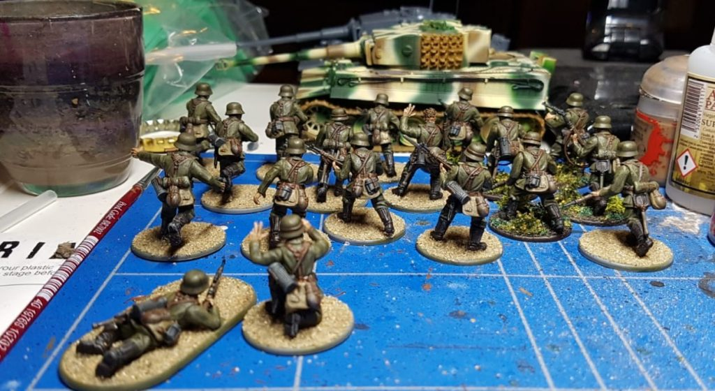 Hier die Großserie dann. Die Bolt Action Hungarian Infantry des Reinforced Platoon.