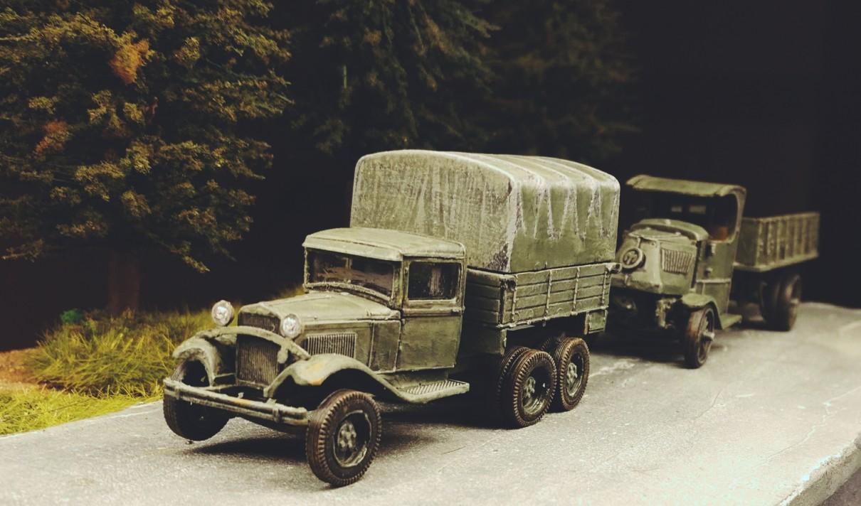 Der GAZ-MMM und der WK1-Truck im Endzustand.
