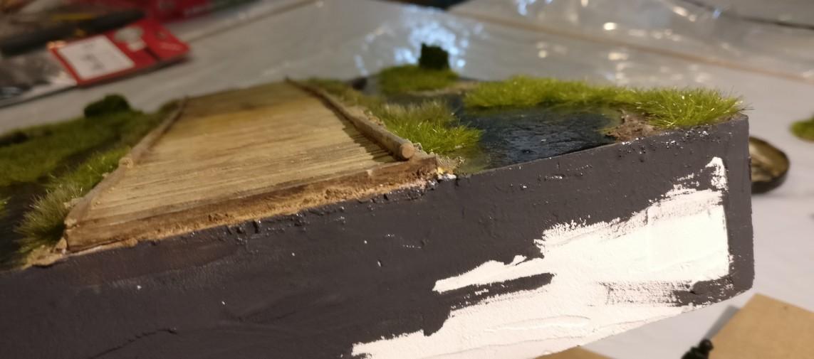 Zum Einstimmen hat sich der Sturmi sein Sumpfmodul vorgenommen. Die Einfassung brauchte noch etwas Farbe.