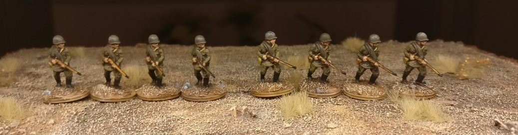 Eine der Schützengruppen.