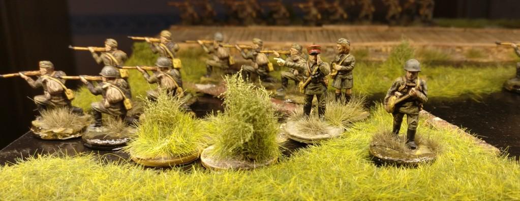 Von den Sumpfschleichern wurden ebenfalls drei Schützeneinheiten fertig. Hier die erste.