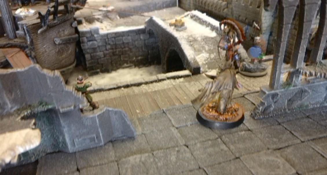 Mein Zauberer bei meinem ersten Spiel von Frostgrave auf dem Tag der offenen Tür des Civitas Mattiacorum in Wiesbaden.