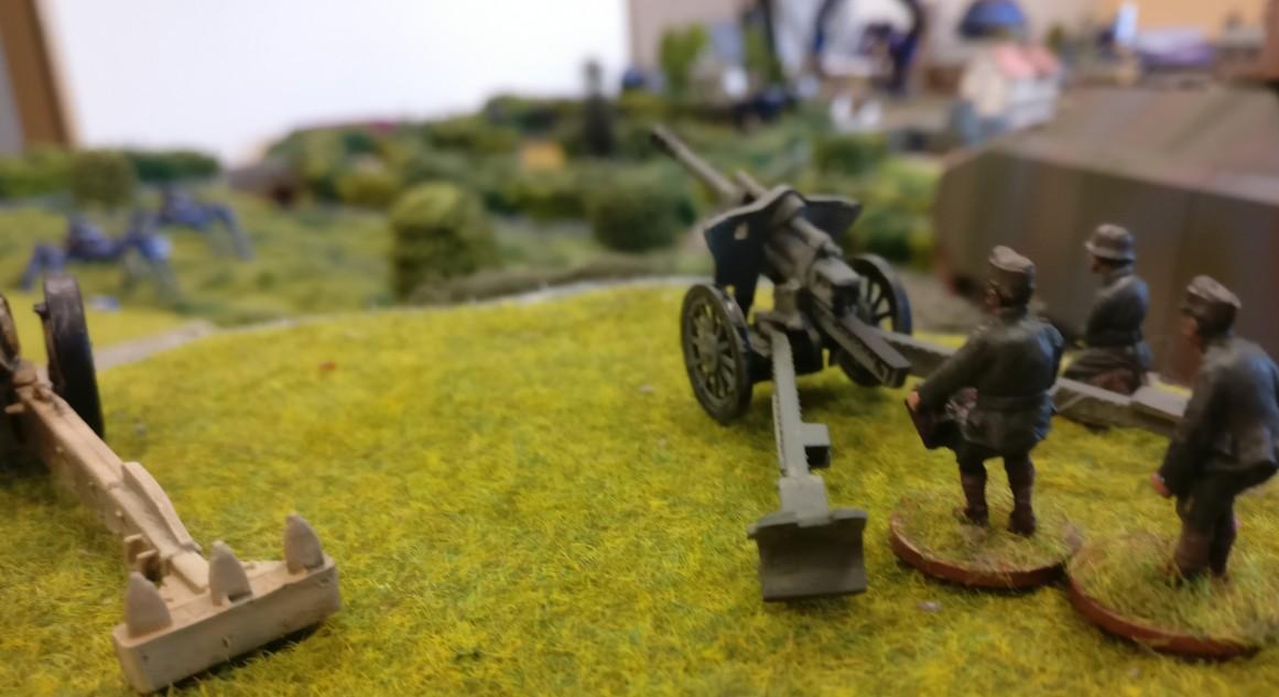 Auch klassische Artillerie beteiligte sich an der Battle.